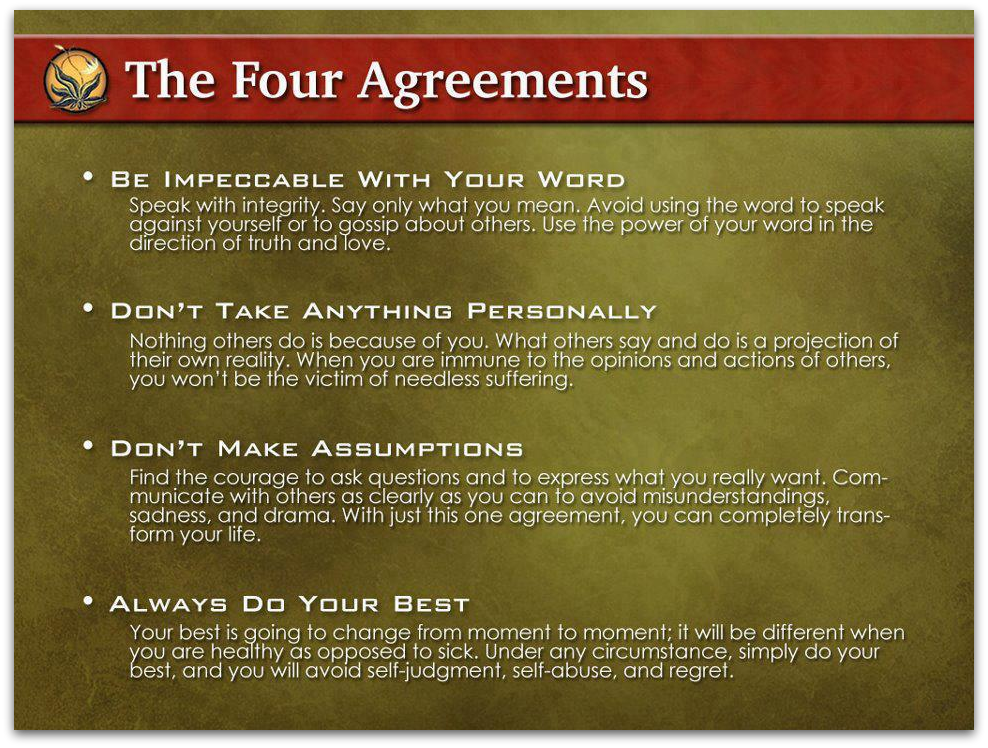 The Four Agreements Pt 3 Do Not Take Things Personal